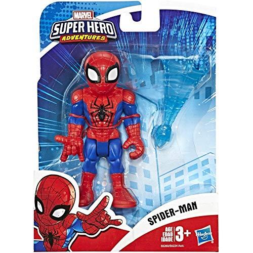 Playskool Heroes Marvel Super Hero Adventures Spider-Man, 12 cm große Actionfigur mit Accessoire zum Sammeln, für Kinder ab 3 Jahren