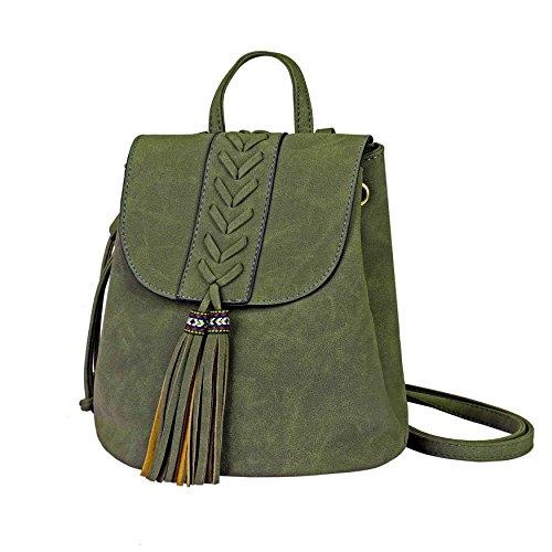 Zaino Donna Bohemian Mini Girls Backpack Ricamato Fashion PU morbido Zaini per Viaggiare Shopping Holiday Party Partito