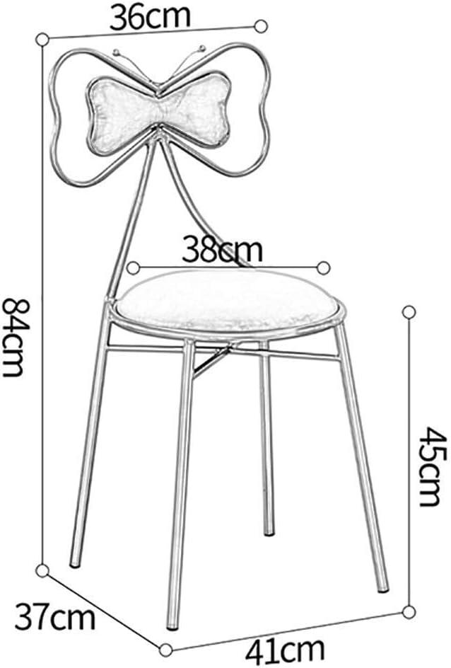 HELIn Chaise de salle à manger nordique en fer forgé (Color : White) Gray