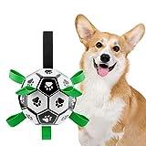 Ossky Palla per Cani, Giocattolo di Calcio per Cani, Resistente e Impermeabile, Giocattolo con la Palla, Interno Esterno Prato Piscina, per attività' interattive, per Cani di Piccola Media Taglia