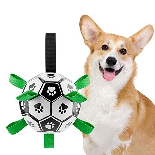Ossky Juguete para Perros ,Pelotas de Juguete para Perros con pestañas de Agarre, Juguetes interactivos para Perros para Tira y afloja, Juguete para remolcar, Agua, morder para Perros