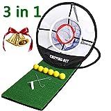 """Best Golf Chipping Nets - Golf Mat 12""""x24"""" Pop Up Golf Chipping Net Realistic Fairway Review"""