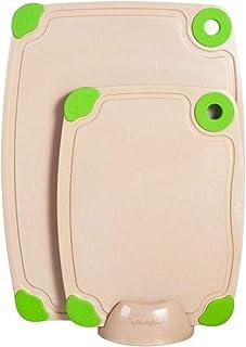 ERTONGHUANBAOCANJU Rice husk antimicrobic cut board (Size : S)