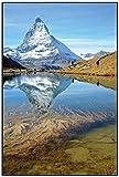 Wallario Wandbild Matterhorn - Spiegelung im See in