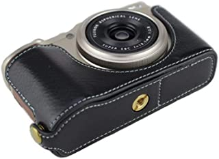Handmade Genuine Real Leather Half Camera Case Bag Cover for FUJIFILM X-F10 XF10 Rufous Color