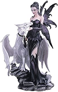 George S. Chen Imports SS-G-91466 Black Fairy with White Dragon Collectible Figurine..