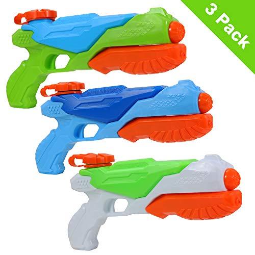 Twister.CK Pistolas de Agua, Paquete de 3 Super Soaker Squirt Gun, Juguete de Playa de Verano para ni?os para Fiesta y Piscina al Aire Libre