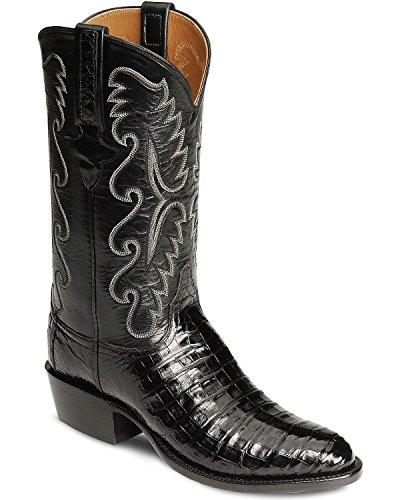Lucchese Men's Handmade Classics Caiman Ultra Belly Cowboy Boot Medium Toe Black 10 EE US