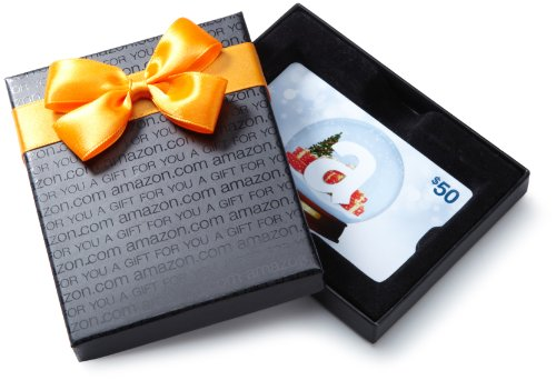 Amazon.com $50 Gift Card in a Holiday Sprig Box