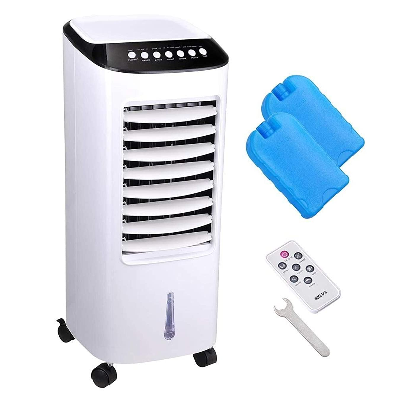 Selva Honeycomb Cooling Media 6L Tank Portable Evaporative Air Cooler w/Remote Control Fan Ionizer & Humidifier   65W Energy Saving Easy to Wash Dust Filter   Three Speed Mode Environment Friendly