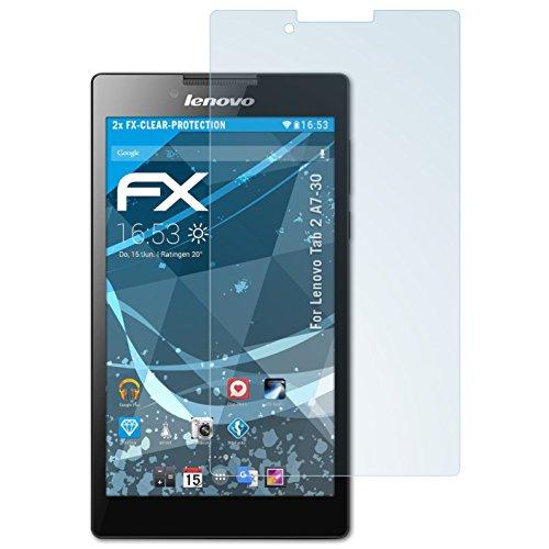 atFolix Schutzfolie kompatibel mit Lenovo Tab 2 A7-30 Folie, ultraklare FX Bildschirmschutzfolie (2X)