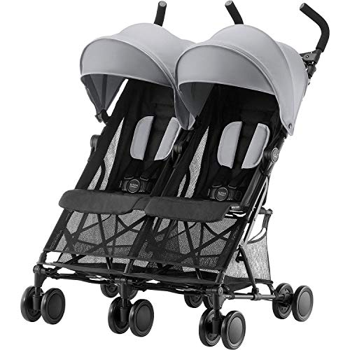 Britax Römer Buggy 6 Monate - 3 Jahre I 15 kg pro Sitz I HOLIDAY DOUBLE I Steel Grey