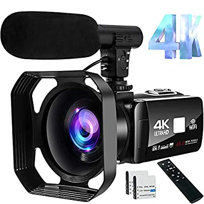 4K Video Camera Camcorder 48MP Image Vlogging Camera with Wi-Fi Video Camera for YouTube with Microphone, Remote Control and Touch Screen from S & P Safe and Perfect