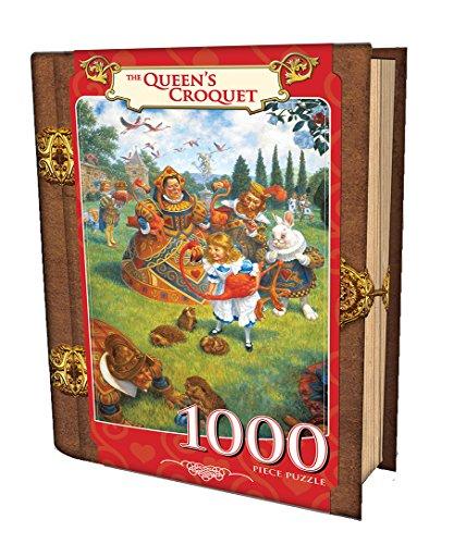MasterPieces The Queen's Croquet - Alice in Wonderland 1000 Piece Book Box Jigsaw Puzzle