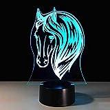 7 colores luz nocturna 3D 7 colores led lámpara de escritorio led acrílico 3D luz nocturna...