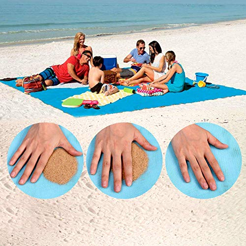 Sand-Free Beach Mats, Beach Mat Sand Proof Rug Picnic Blanket - Fast Dry, Easy to Clean Perfect...