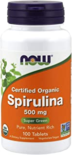 Now Foods Organic Spirulina Tablets, 100
