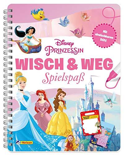 Disney Prinzessin: Wisch & Weg: Buch mit abwischbaren Seiten und Stift