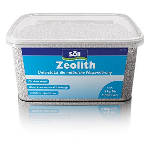 Söll 14710 Zeolith Natürliches Klinoptilolith Granulat Entgiftung von Teichen 5kg - Wasserklärungsmittel bindet Ammonium & Stickstoff kontinuierlicher Schadstoffabbau im Gartenteich Schwimmteich