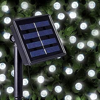 Cadenas de 200 Luces Solares Blancas Brillantes LED- luces LED solares exteriores para navidad de SPV Lights: Los Especialistas en Luces e Iluminación Solar (Garantía de 2 Años Gratis)