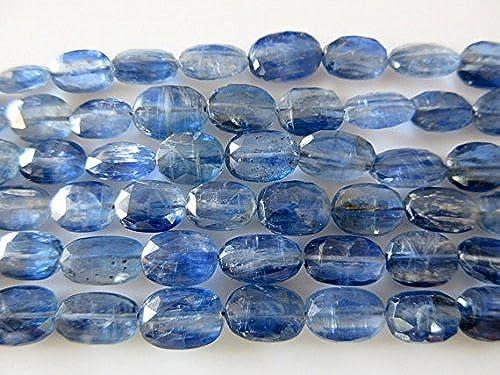 más descuento Cuentas ovaladas ovaladas ovaladas facetadas de cianita azul natural, cuentas de 8 mm a 12 mm, tira de 25,4 cm  Precio al por mayor y calidad confiable.