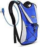 SKL Mochila de hidratación con 2l Mochila de hidratación Vejiga del Agua Mochila de Senderismo Mochila de Ciclismo para Escalada Camping Correr (Azul)