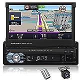 CAMECHO Single Din Touchscreen Car Stereo in-Dash GPS...