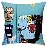 LongTrade Jean-Michel Basquiat P29 Fodera per Cuscino per Fodera per Cuscino Cuscino Quadrato Decorativo Moderno per Divano casa 18x18 Pollici