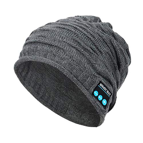 Cuffie Per Dormire Bluetooth Cappellino Invernale Caldo Bluetooth 5.0 Cuffia Senza Fili Cuffia Sportiva Cappellino Sportivo Con Altoparlante Per Cuffie Mic-Grigio