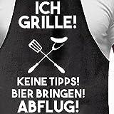 Shirtoo Grillschürze Ich Grille - Lustiges Geschenk für Männer und Grillmeister - 3
