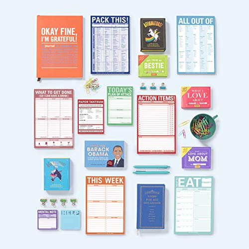 Knock Knock What To Eat Pad (Mint Green), Meal Planning Note Pad, 6 x 9-inches Photo #3
