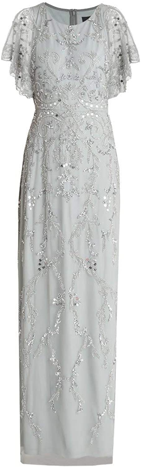 Fenghuavip Maxi Mother The Bride Dresses Split Evening Gowns Short Sleeves