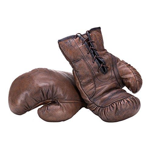Vintage dunkelbraun Boxhandschuhe