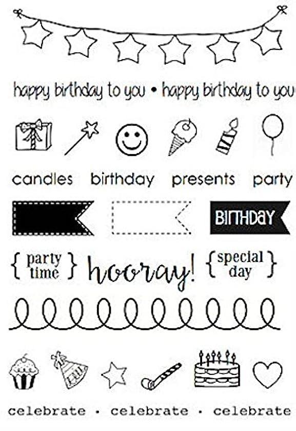 SRM Stickers Birthday Plans Planner Clear Stamp