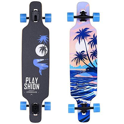 VOMI Hignful Carver Skateboard Ramp Longboard Komplettes Double Kick Skateboard Straße Skateboard Brush Street 39 Zoll Skateboards Für Anfänger, Kinder, Jugendliche Und Erwachsene (A)