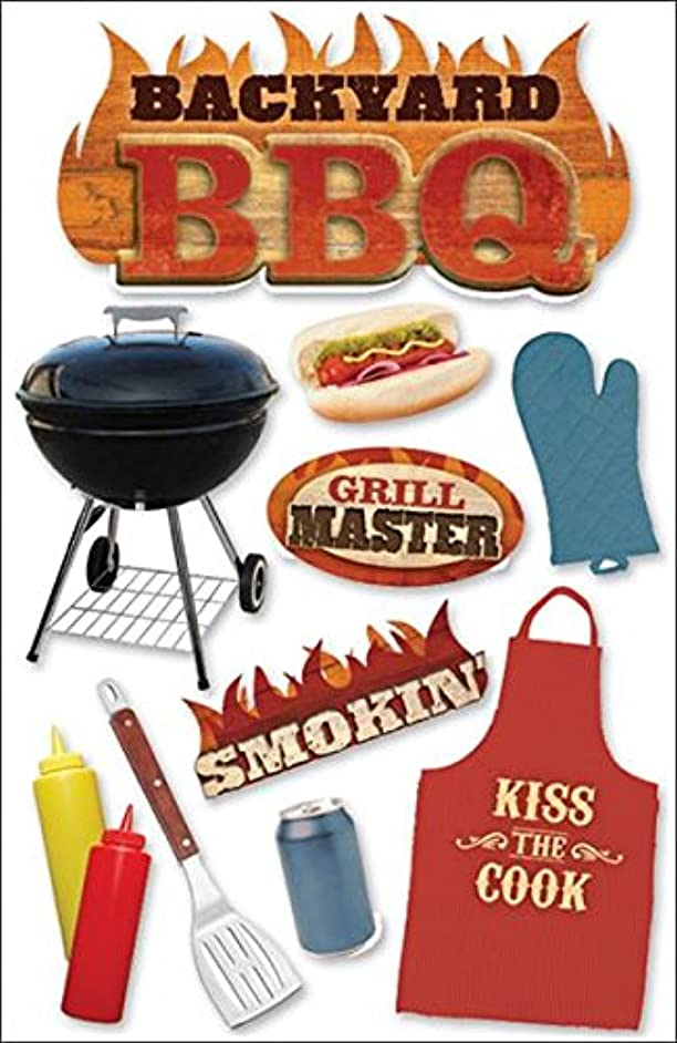 Paper House Productions STDM-0038E 3D Cardstock Stickers, BBQ (3-Pack)