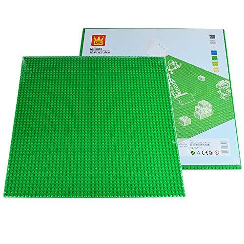 BSPAS Grundplatte 50x50 Platten für Lego Stadtleben, Bauplatten kompatibel mit Lego (Grün)