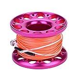 Bobina per immersioni, 4 colori, qualità 30 m, bobina in alluminio con gancio a scatto in...