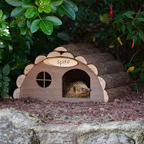 CKB LTD Wooden Hedgehog or Guinea Pig House Outdoor Shelter Outside Habitat House - Hotel Can Also Be Used For Hibernation Home For Garden Shelter 33.5 x 34 x 19cm