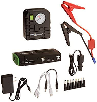 InteliCharge Multi-Function Car Power Bank 13600mAh Jump Starter Charger Portable Power with FREE tire compressor