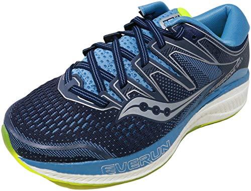 Saucony Women's Hurricane ISO 5 Running Shoe, Navy/Citron, 5 M US