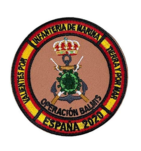 Gemelolandia Parche bordado para la ropa Operación Balmis COVID 19 Operación Militar contra el Coronavirus 8 cm Parche Termoadhesivo Hook and Loop Unidades Militares España