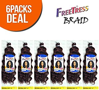 FreeTress Synthetic Hair Crochet Braids Natural Deep 10