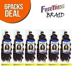 FreeTress Synthetic Hair Crochet Braids Natural Deep 10