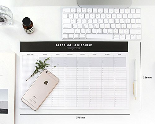 So Chic Desktop Weekly Planner Pad Undated Calendar Desk Pad Organizer Schedule Agenda to do List Notepad, 52p, 14.8� X 8.9� Photo #8