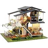 Fsolis Miniature avec des Meubles de Maison de poupée, kit 3D Dollhouse en Bois Ainsi Que la poussière et Le Mouvement de la Musique, 1:24 Salle créative pour l'idée Cadeau Cadeau de Vacances A81