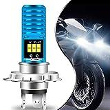 Teguangmei H4 HB2 9003 HS1 P43t LED Lampadina per Fari Moto Luce Hi/Lo Alluminio Blu Super Luminoso 6000K Bianco ad Alta potenza COB 12-SMD per Faro ATVS per Auto da Moto (confezione da 1)