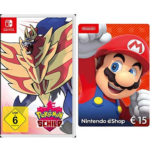 Pokémon Schild [Nintendo Switch] + Nintendo eShop 15 EUR Guthaben [Download Code]