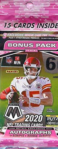 2020 Panini Mosaic NFL Football CELLO pack (15 cards/pk)