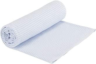 Under the Nile Organic Cotton Baby Swaddle Blanket, Stripe (Blue Stripe)